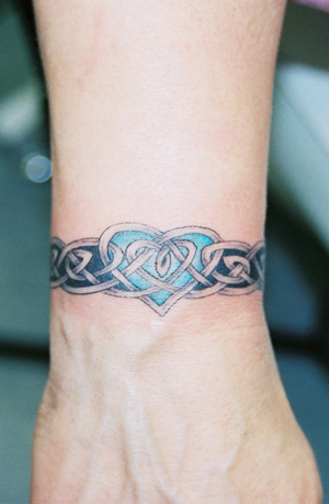 Celtic Wrist Band with Heart