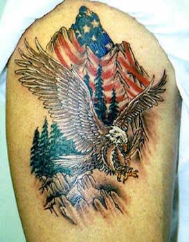 American flag eagle tattooamerican flag eagle tattoo for American flag eagle tattoo